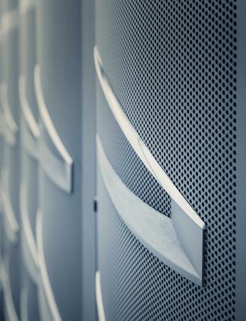 mainframe: door mainframe in the data center blur closeup