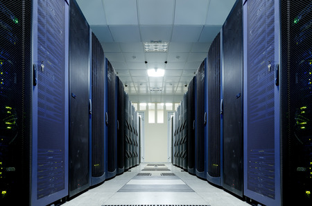 server room with modern equipment in data center Archivio Fotografico