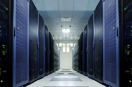 server room with modern equipment in data center Standard-Bild