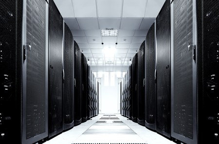 server room with modern equipment in data center Stockfoto