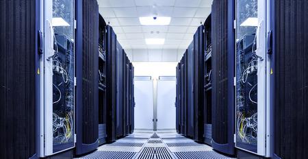 server room with modern equipment in data center Imagens