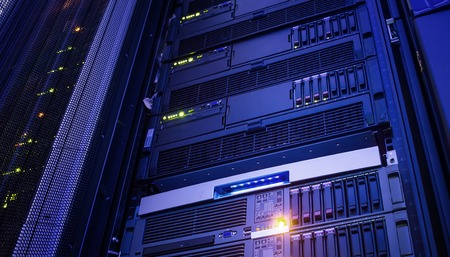 Modern storage of blade servers in data center vertical