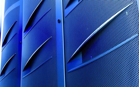 databank: door mainframe in modern data center blur closeup with motion blur