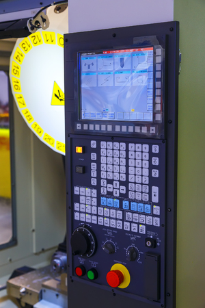 panel: industrial control panel of the modern machine