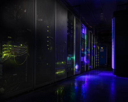 datacentre: futuristic modern server room in the data center