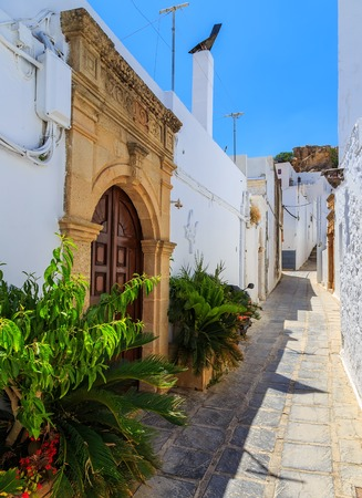 Lindos is most popular tourist place on the Rhodes island