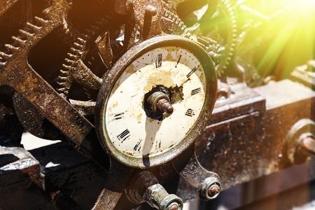 Close-up of an ancient gears mechanism