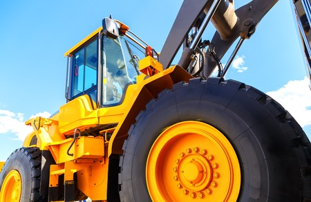 big truck wheel closeup object Stock Photo