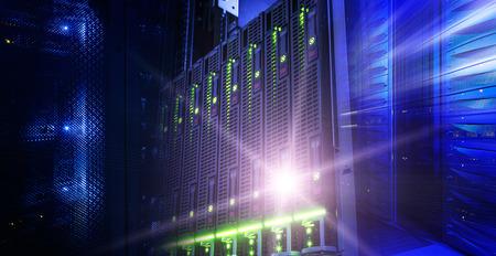 Modern server data center information technologies collage