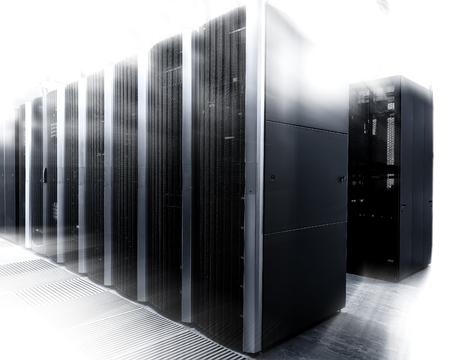 interior shot: An interior shot of a computer data center