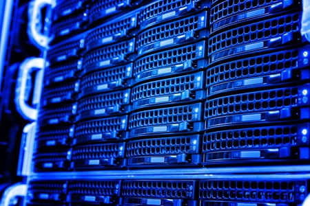 mainframe: series disk storage disks of the mainframe in the data center