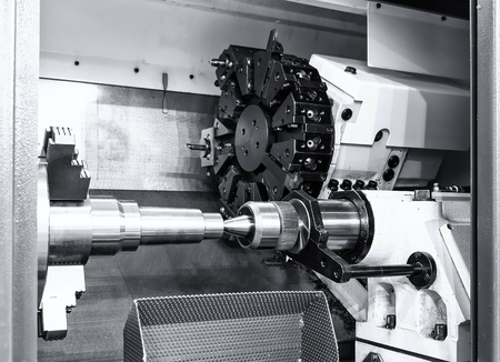 industrial metal work bore machining process by cutting tool o