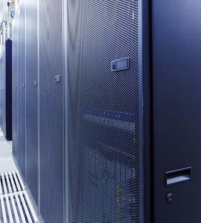 datacentre: room with rows of server hardware in data center