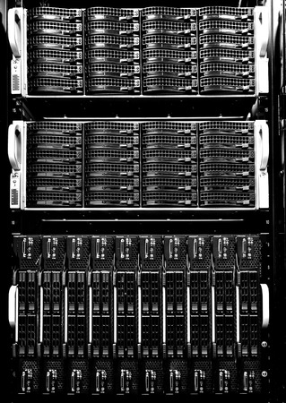 webserver: series modern hard drive disk storage front view