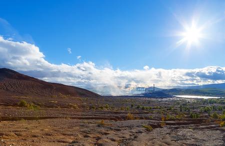 ecological disaster: Industrial desert - ecological disaster in the Karabash, Russia