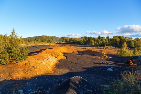 Environmental problem. Result of extraction and processing of copper ore settlement Karabash.