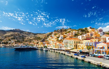 pictorial: largest ship in the port of Symi. pictorial Greece series- Symi island, Dodecanes