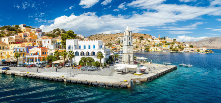 cycladic: Beautiful summers day on the Greek island of Symi in the Dodecanese Greece Europe