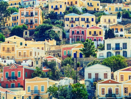 greek islands: Beautiful city of Symi in archipelago Greek islands.