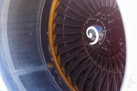 turbojet: Turbo-jet engine of the plane, close up