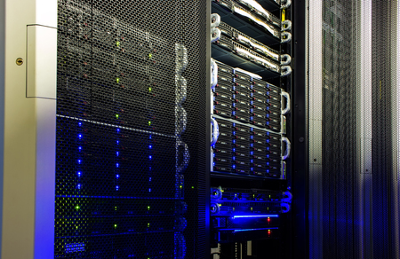 supercomputer disk storage in the data center Banque d'images