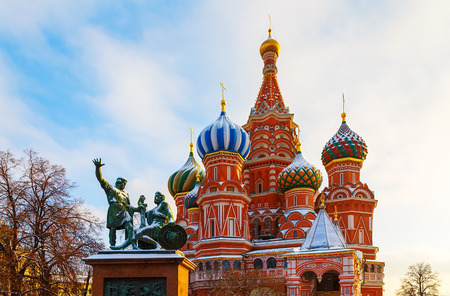 St. Basils Cathedral Winter Red Square in the Moscow