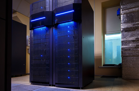 rackserver hardware of mainframes in modern data center