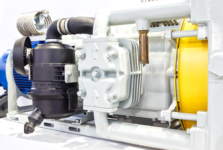 traction: Close up powerful electric motors for modern industrial equipment