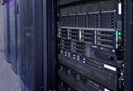storage tapes in modern internet data center room 版權商用圖片
