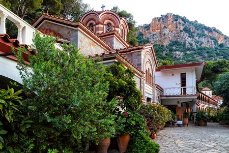 Crete Island, Greece - June 08, 2017: The monastery Agios Georgios, located in the Selinari gorge on Crete, Greece Stock Photo