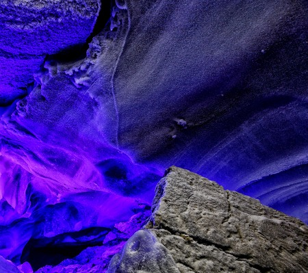 Veil ice water, snowfall. Weird unclear object Sci-fi fantasy cosmic extraterrestrial background