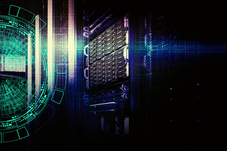 background abstract technology communication concept. concept of disk storage data center. 写真素材