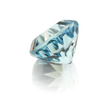 topaz: gem topaz blue isolated Stock Photo