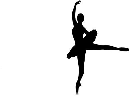 Silhouette de danseur de ballet. Vector illustration