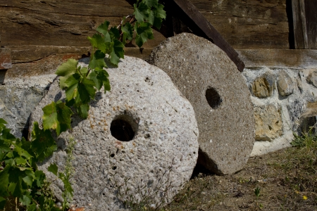 This antique mill stones are located in a village in Serbia.