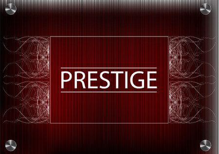 prestige: White patterns on a red background, the inscription prestige Illustration