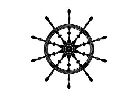 black helm on white background, vector image