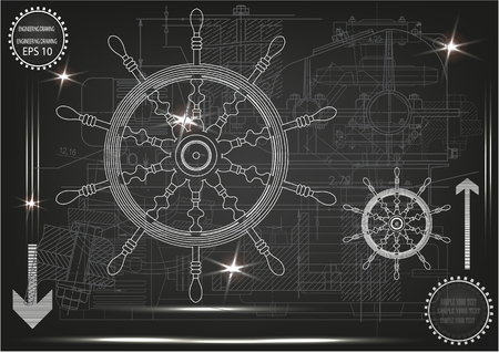 3d model of the wheel on a black background. Drawing