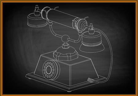 3d model of phone on a dark background. Archivio Fotografico - 98512733