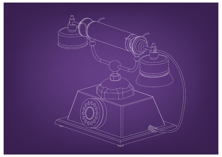 3d model of phone on a purple background.