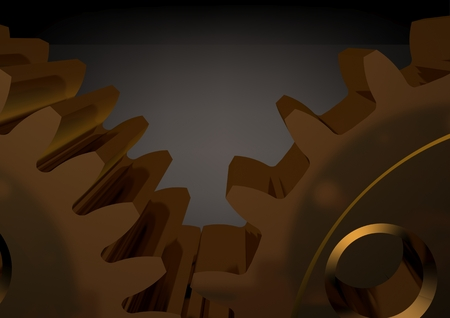 Gold reducer on a black background. 3D rendering