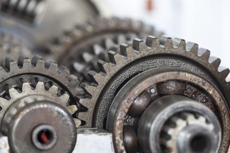 Close up der alten Getriebe Zahnräder