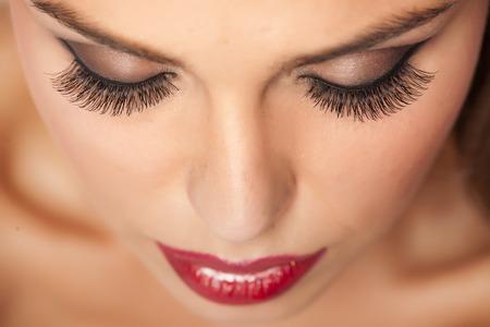Makijaż i sztuczne rzęsy Zdjęcie Seryjne
