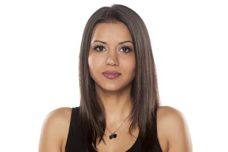 young dark - skinned pretty woman 스톡 콘텐츠