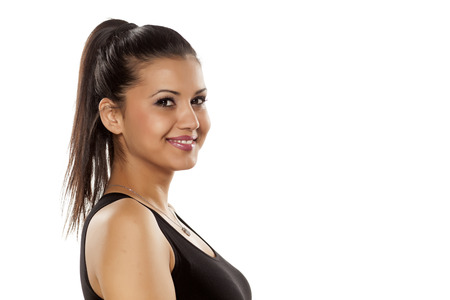 ethnic women: very happy dark skinned beautiful young woman