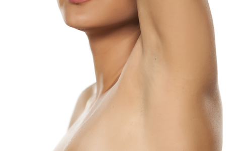 underarms: well shaved female armpit