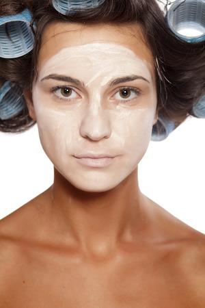 chosen: Beautiful woman posing with poorly chosen foundation