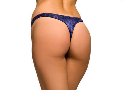 perfect woman's buttocks on white background