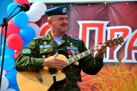 Holiday  of 100 years of military air forces of Russia
