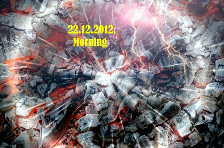 end of world: 21.12.2012, the end of the world Stock Photo